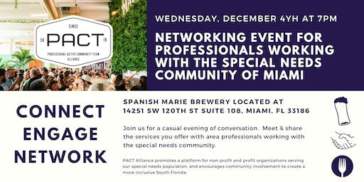 Meet & greet for professionals working with special needs community