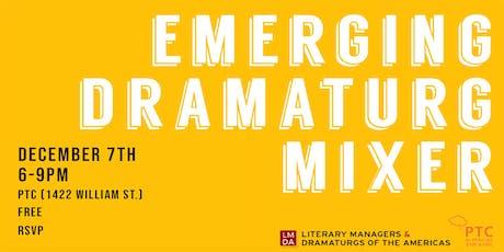 Emerging Dramaturg Mixer tickets