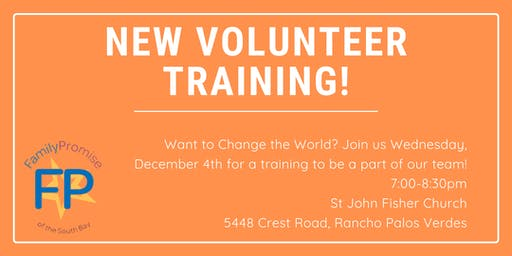New Volunteer Training!