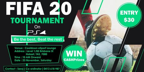 Fifa20 Tournament on PS4   Hobart tickets