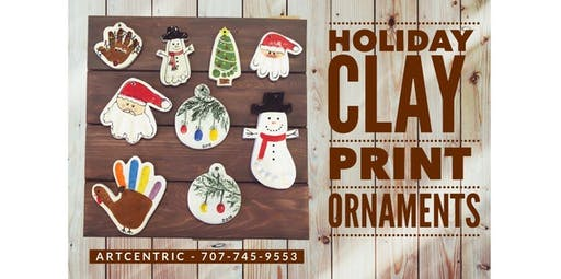 Clay Print Ornaments (2019-11-17 starts at 2:30 PM)