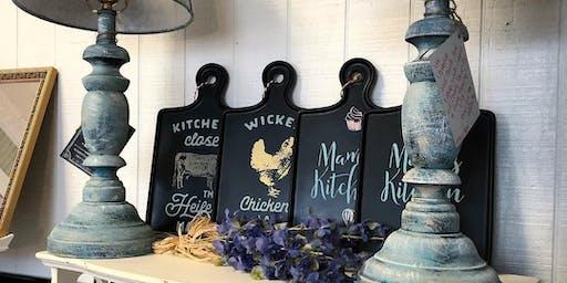 Dixie Belle Chalk Paint Lamp Class