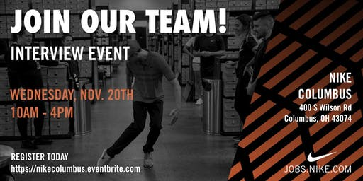 Nike Columbus Interview Event