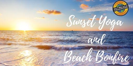 Sunset Yoga and Beach Bonfire