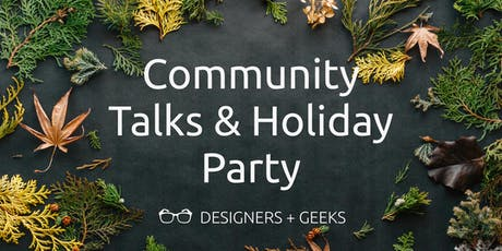 Community Talks & Holiday Party tickets