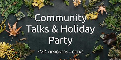 Community Talks & Holiday Party