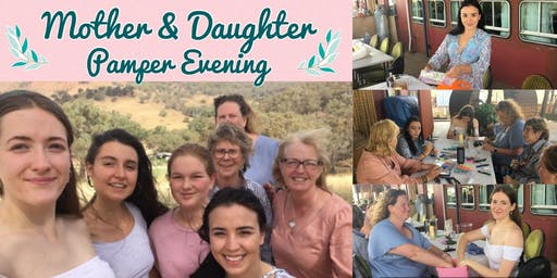 Mother and daughter pamper evening