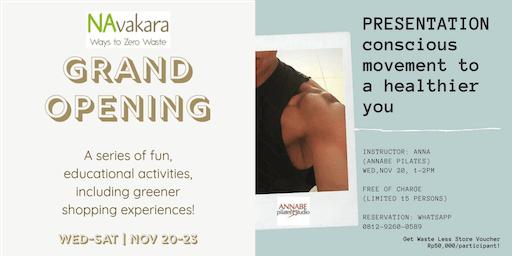 Navakara Grand Opening Programs  - Conscious Movement to a Healthier You