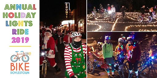 Doylestown Holiday Lights Bike Ride 2019