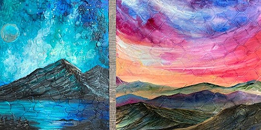 Mixed Media with Jen Livia - Textured Class with Supplies
