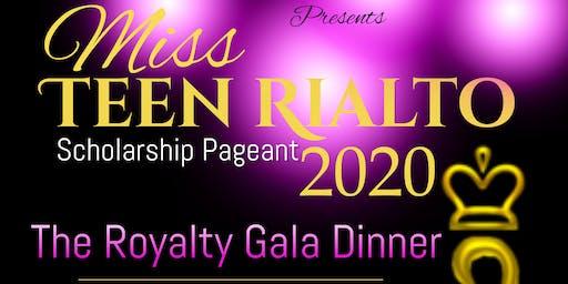 Miss Teen Rialto Scholarship Pageant Royal Gala Dinner & Awards Ceremony