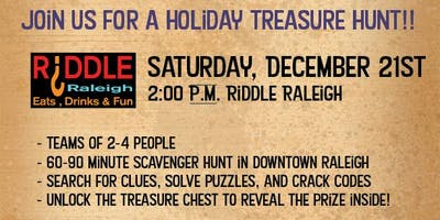 Downtown Raleigh Holiday Treasure Hunt - Riddle Raleigh
