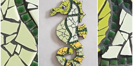 Mosaics for beginners - Make a Seahorse Garden feature tickets