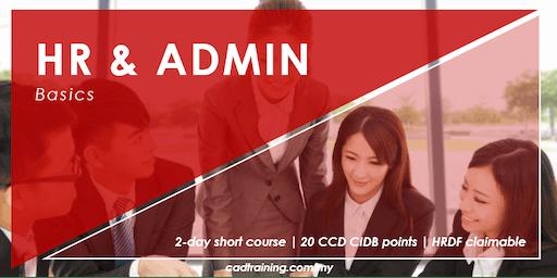 Effective Human Resource Admin Skills - Basics | 2-day Short Course | 20 CCD CIDB points