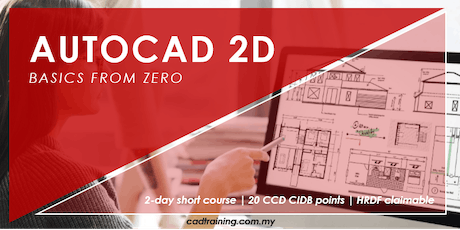 AutoCAD 2D Basics from zero   2-day Short Course   20 CCD CIDB points tickets
