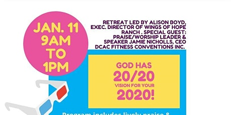 "Goal setting workshop -""God has  20/20 vision for your 2020"" tickets"