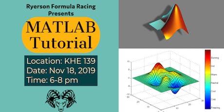 Ryerson Formula Racing - New Member Matlab tutorial tickets