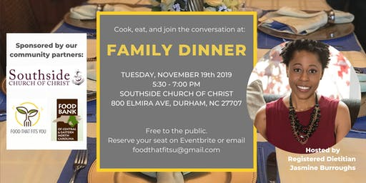 Family Dinner (Community Cooking Series)