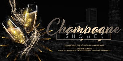 Champagne Shower- NYE Celebration