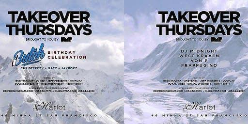 Takeover Thursdays – 4 DJs! DJ MIDNIGHT + WEST KRAVEN + VON P + FRAPPUGINO