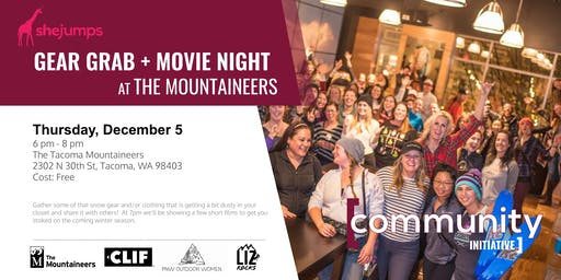 WA SheJumps Gear Swap + Movie Night at The Mountaineers