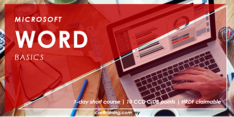 Microsoft Word Basics | 1-day Short Course | 10 CCD CIDB points tickets