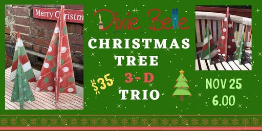 Dixie Belle Christmas Tree 3-D Trio