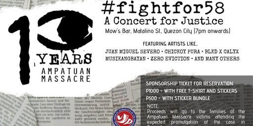 #Fightfor58: A concert for justice