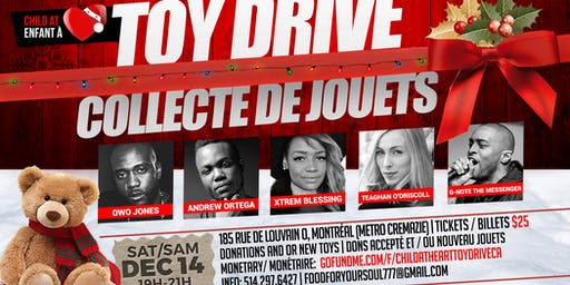Child At Heart Toy Drive/ Enfants A Cœur Collecte de Jouets
