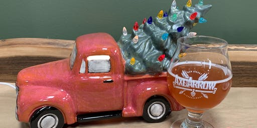 """Light-Up Truck with Tree or 13"""" Ceramic Tree at Axe and Arrow Brewing"""