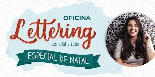 Oficina de Lettering especial de Natal, com Julia Leão