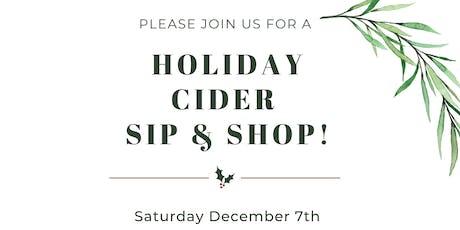Holiday Cider Sip & Shop tickets