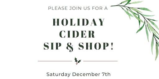 Holiday Cider Sip & Shop
