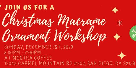 Macrame Christmas Ornament Workshop tickets