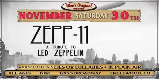 Zepp11 - A Tribute To Led Zeppelin w/ Lies or Lullabies + In Plain Air