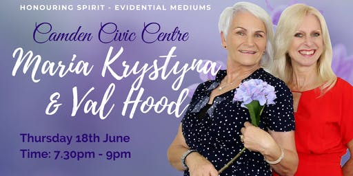 An Evening of Evidential Mediumship with Maria Krystyna & Val Hood