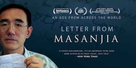 Letter from Masanjia - Award Winning Documentary Screening tickets