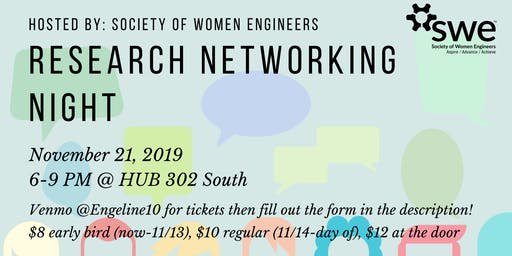 SWE's Research Networking Night 2019