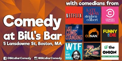 Comedy at Bill's Bar (Only $15)