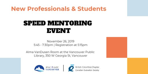 New Professional Speed Mentoring Series #3