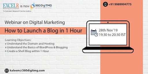 Webinar on digital marketing How To Launch a Blog in Hour