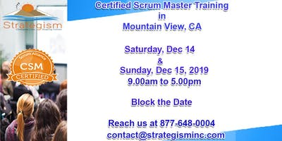 Certified Scrum Master (CSM) Training in Mountain View-Dec 14,15-2019