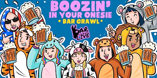 Boozin' In Your Onesie Bar Crawl | Cleveland, OH - Bar Crawl Live