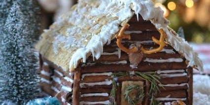 LOG CABIN Gingerbread House