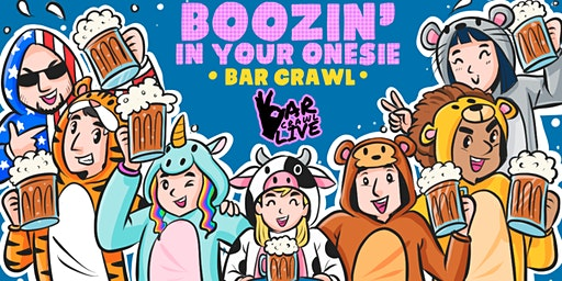Boozin' In Your Onesie Bar Crawl | Richmond, VA - Bar Crawl Live