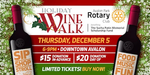 2019 Rotary Holiday Wine Walk