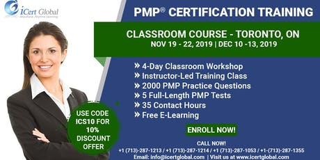 PMP® Certification Training Classroom Course Toronto, ON | iCert Global tickets