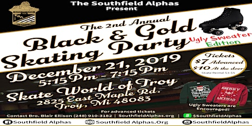 The 2nd Annual Black and Gold Skating Party
