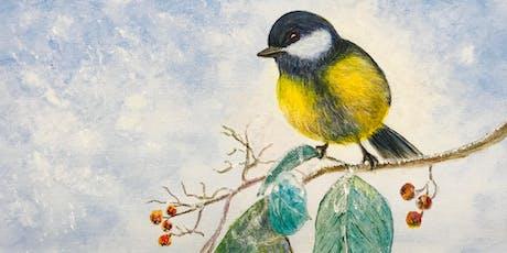 Paint & Sip - The Wintry Bird (Hippo Art Studio) tickets