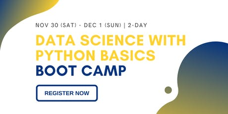 2-day Data Science with Python Boot Camp for Complete Beginners | Preface Nomad tickets
